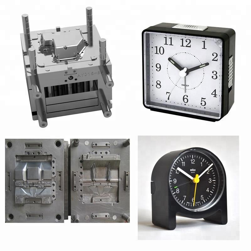 small alarm clock / square plastic shell / cover mould , plastic parts sample injection mold customization
