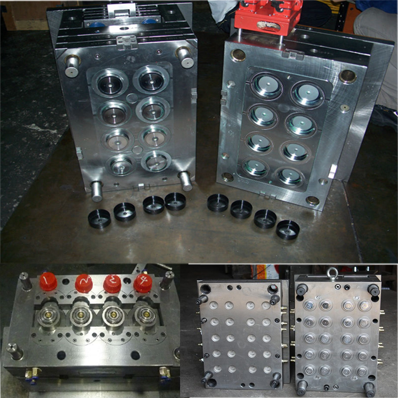 PP plastic big head buckle snap flip top cap plastic injection mold / mould for cosmetic package