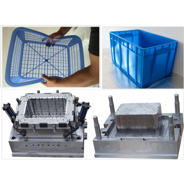 Customized plastic storage basket injection mould, plastic vegetable basket tool , plastic fish basket mold
