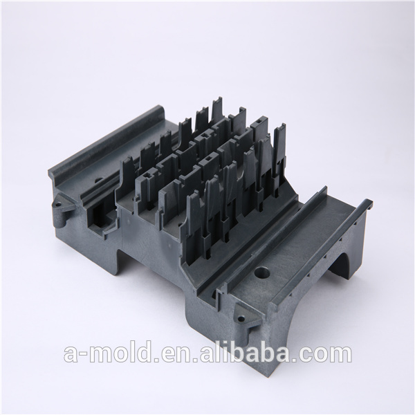 Thermoset precision plastic injection mold with processing raw material