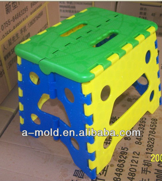 Mini Plastic Folding Stool Chair for kids Plastic Injection Mold