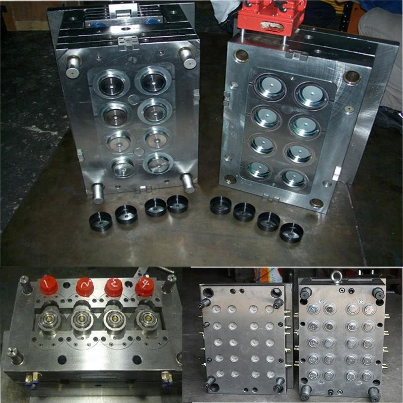 plastic snap cap injection mold / mould