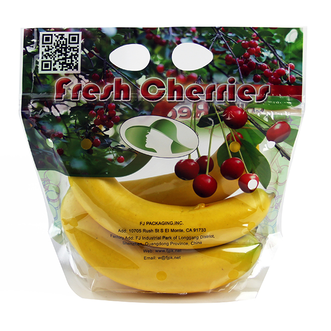 Wholesale BOPP Material Transparent Fruits Or vegetable Packaging Plastic Bag