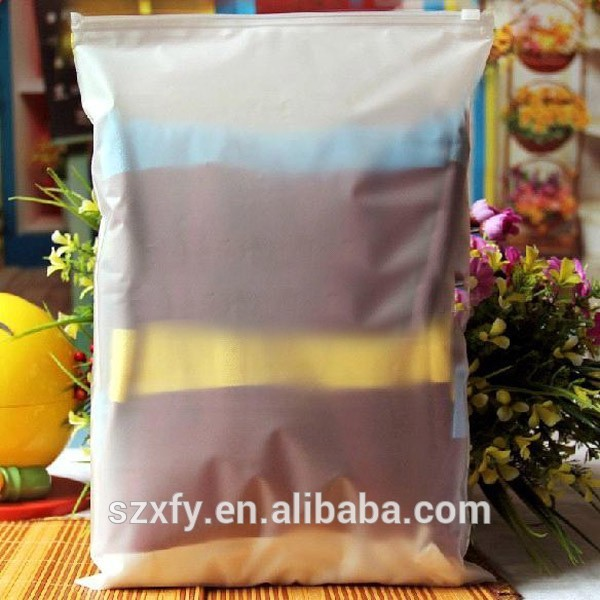 Wholesale underwear gift Frosted plastic zipper bag with own logo
