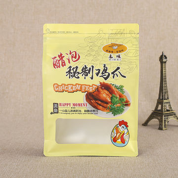 Food-grade Laminated Plastic Pouches Zipper Snack Food Packing Bag with Window