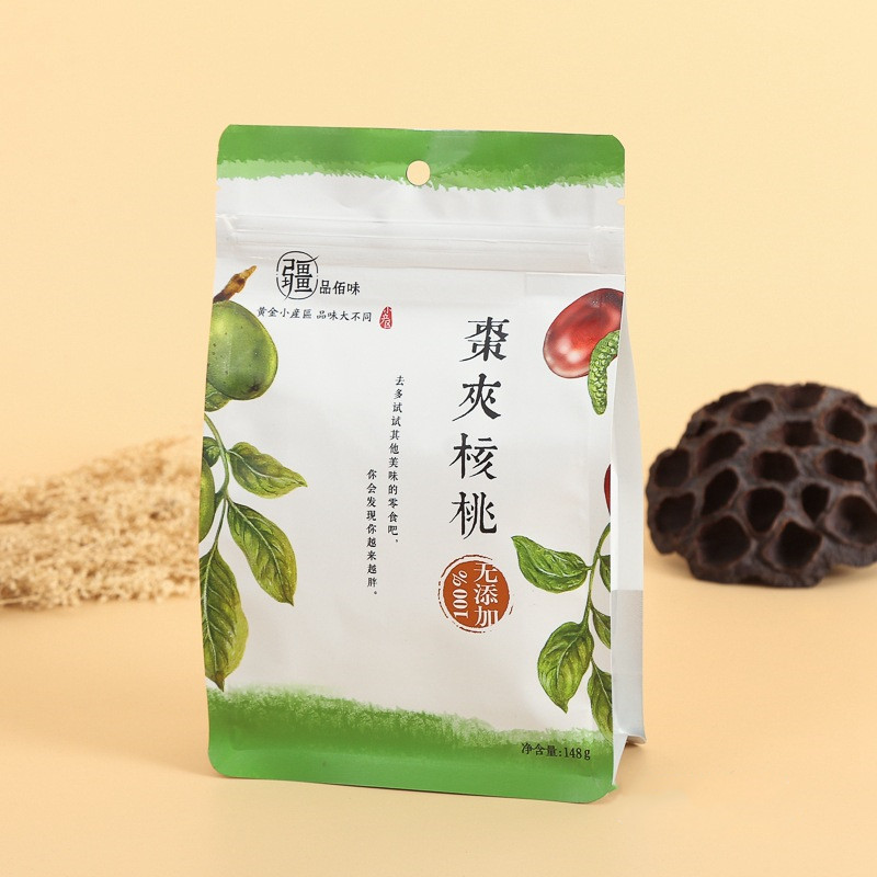 Custom snacks, dried fruits, tea, food, standing up aluminum foil plastic bags