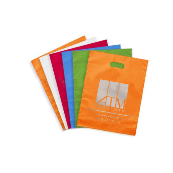 Wholesale die cut shopping plastic packing bag with customized logo
