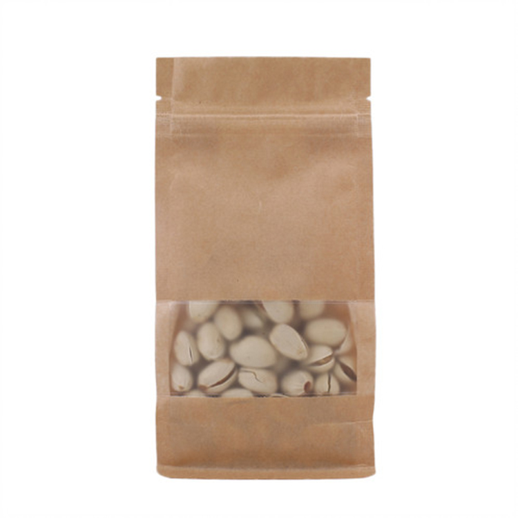 Side Gussets Kraft Paper Food Bag for Dried Fruit Packaging