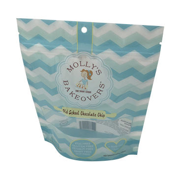 PET/PE Stand up zipper bags custom color and size type for packaging snack food chips power bags
