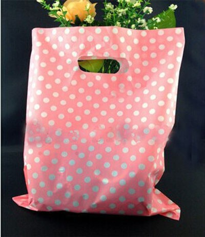 Die cut promotion gifts shopping plastic packing bag