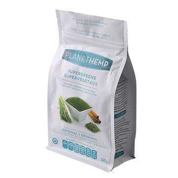 Flat Bottom Gusset Stand-up Ziplock Mylar Bag/Plastic Packing Bags for Snacks