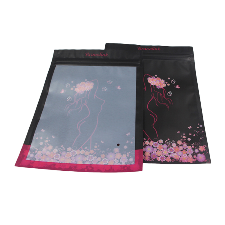 New Products Custom Printed Plastic Underwear Clothes Packaging Bag With Own Logo