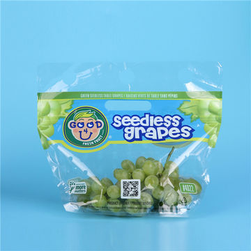 Customized food transparent Mylar packing bag for fruits