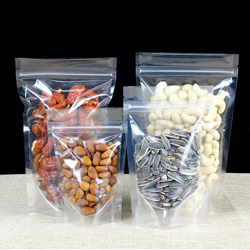 Transparent Rice Storage Bag with High Quality and Tight Zipper Plastic Food Bag