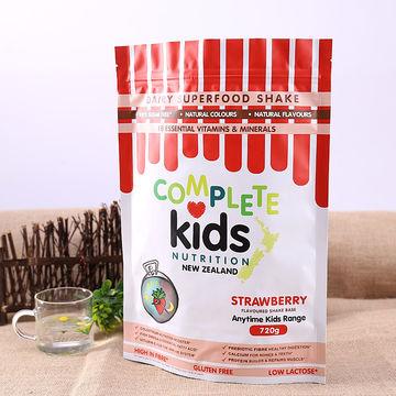 Top Zipper Aluminum Foil Plastic Food Pouches Snack Food Packing Bag