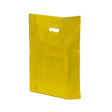 Plastic HDPE Bag Yellow Color Large with Handle Packed clothe and shoes
