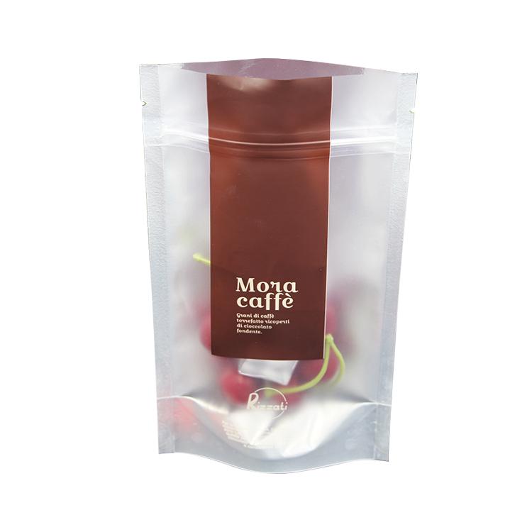 Custom Printed Zipper Plastic Food Packaging Standup Pouches Bag
