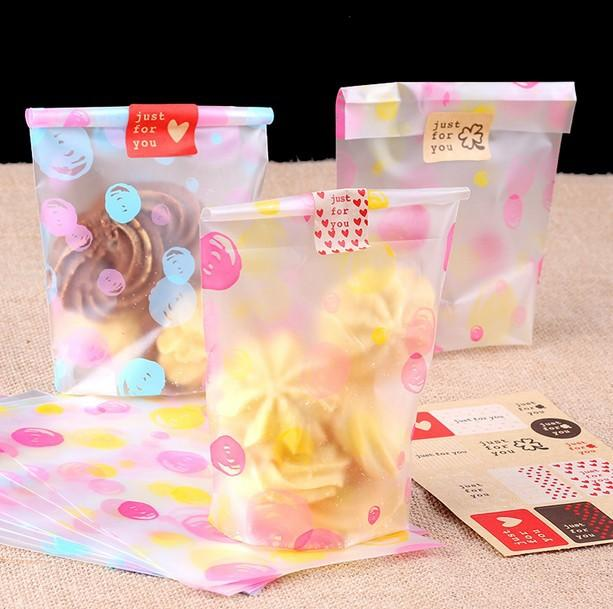 Manufacturer Mini Colorful Packaging Cookies Plastic Bag For Bakery