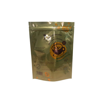 Gold stand-up pouch/foil zippered packing bag, custom packing for snack food