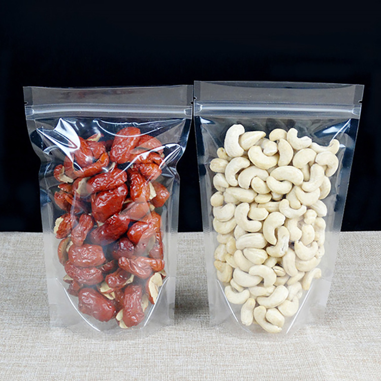 Plastic resealable stand up ziplock food packaging food grade candy snack food bag