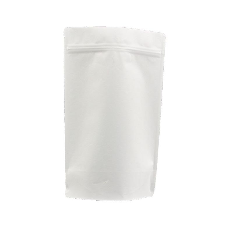 Hot sale zipper stand up white kraft paper food bag