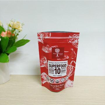 Stand Up Coffee Bag Aluminium Zip Lock Top Plastic Packaging Plastic Bags