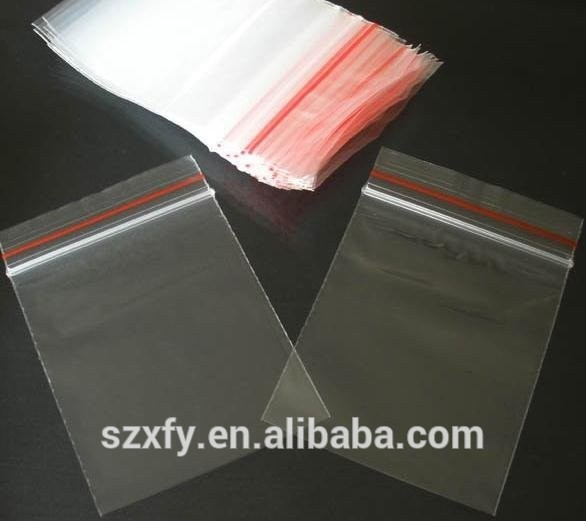 Transparent custom printed zipper bag plastic zip lock bag