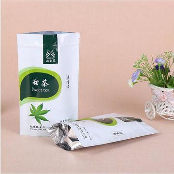 Plastic stand up pouch aluminum foil organic food packaging moringa tea bags plastic bag