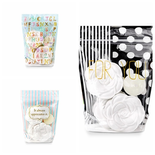 Translucent creative cute zipper ziplock stand up bag candy gift food coffee packing bags small plastic pouch package