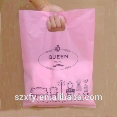 Custom Design Logo Printing Clear Pe Cheap Soft Material Die Cut Biodegradable Shopping Plastic Bag For Supermarket