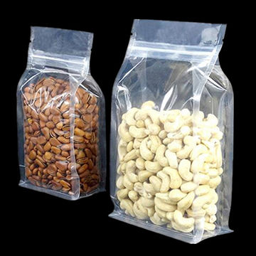 300g, 16oz food packaging plastic flat bottom bag for tea,snack,coffee packing