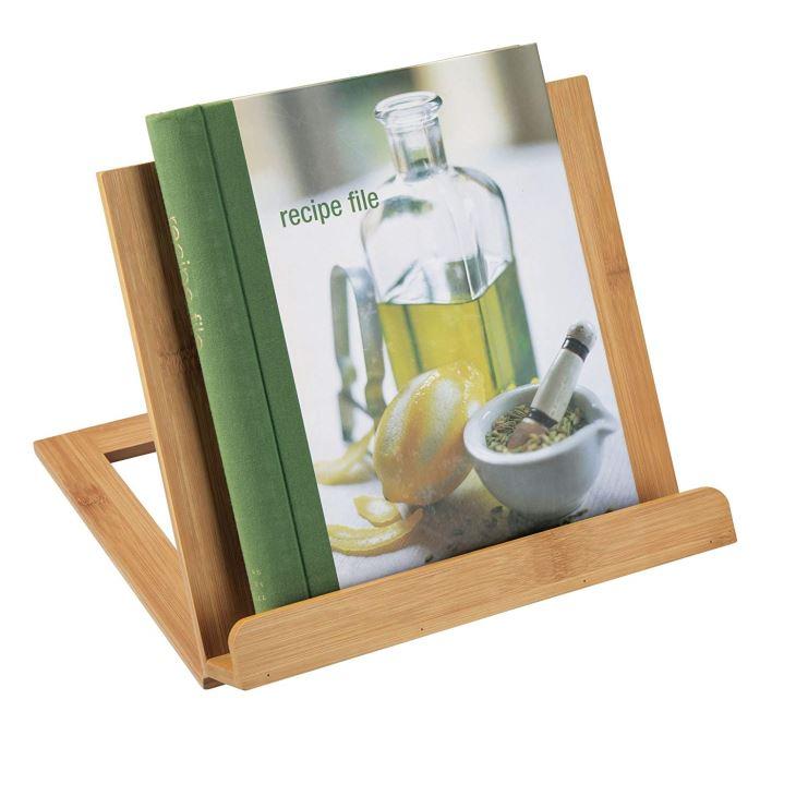 Bamboo Adjustable Cookbook Holder