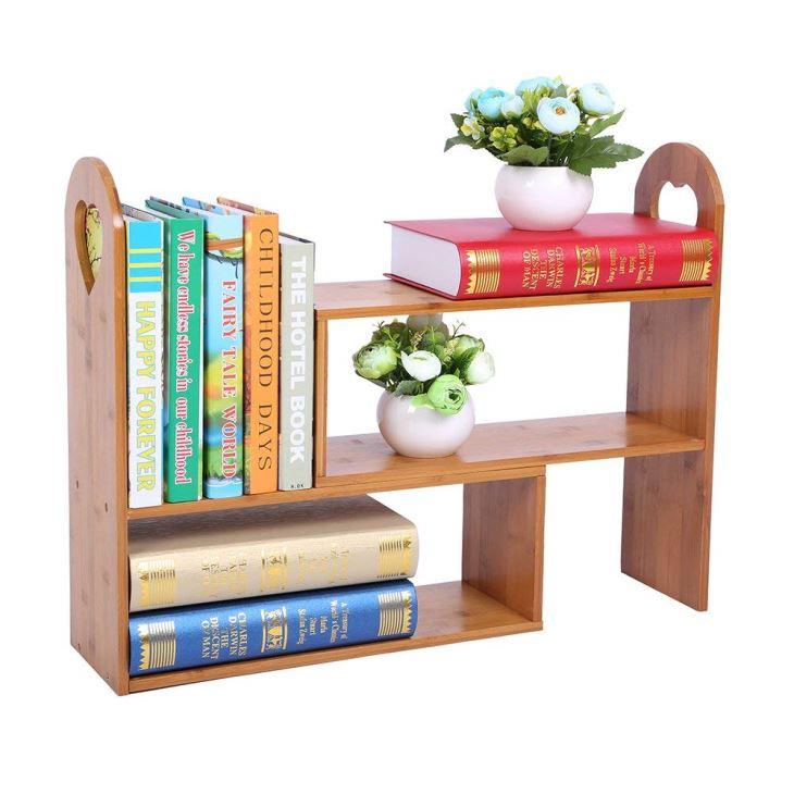 Bamboo Adjustable Desk Organizer