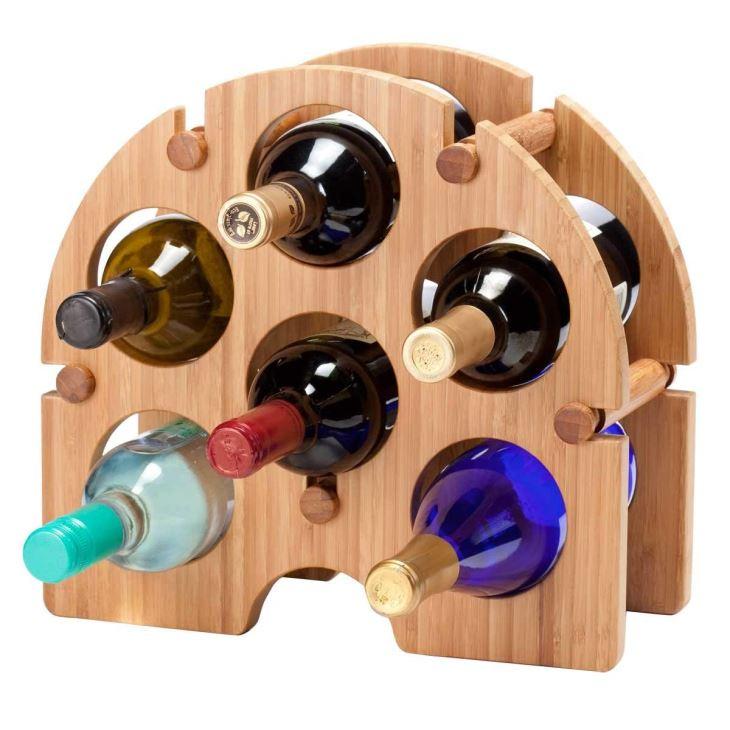 Bamboo Arch Wine Rack - 6 Bottle
