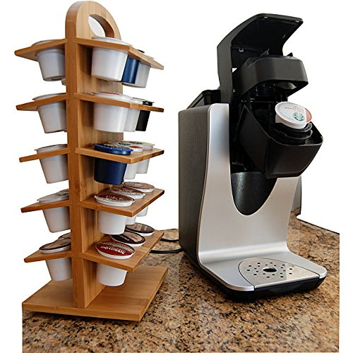Bamboo Coffee Pod Holder Bamboo
