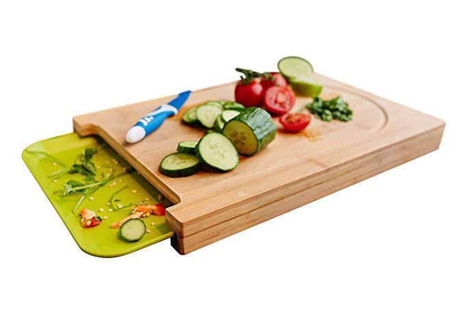 Bamboo Cutting Board With Pan