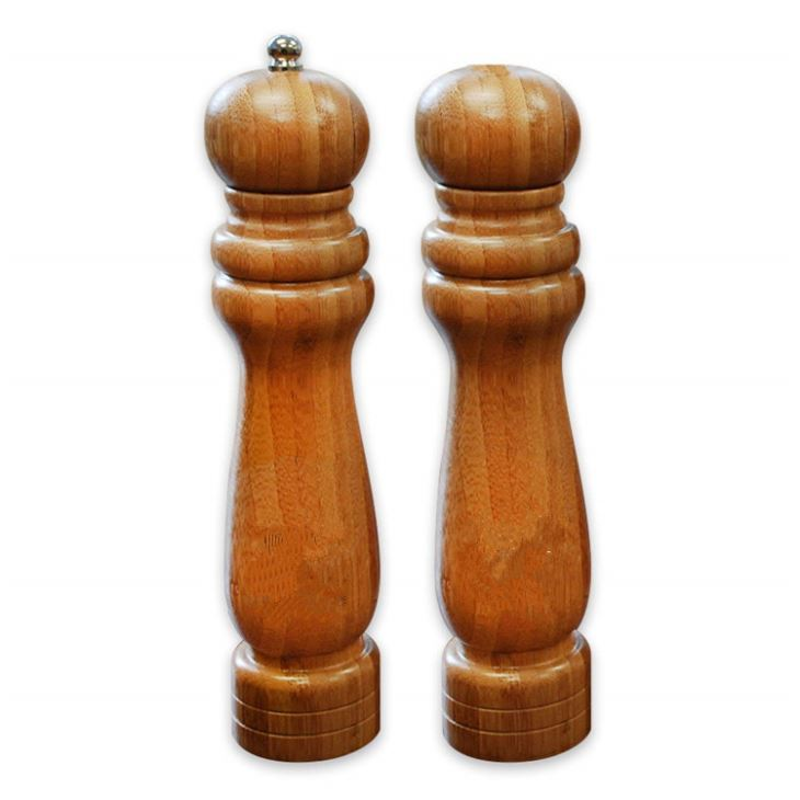 Bamboo Salt And Grinder Set
