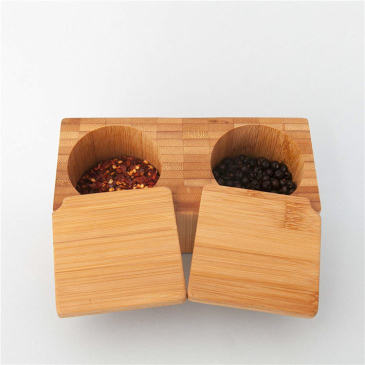 Bamboo Salt And Pepper Box