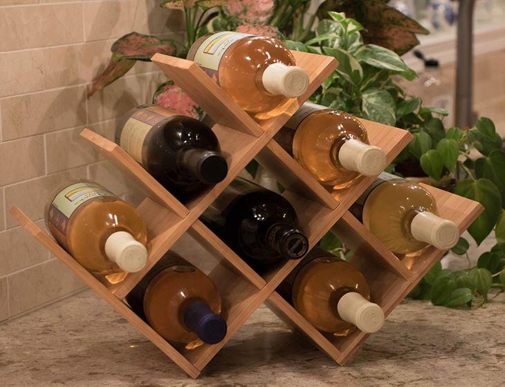 Free Standing W Shaped Wine Rack