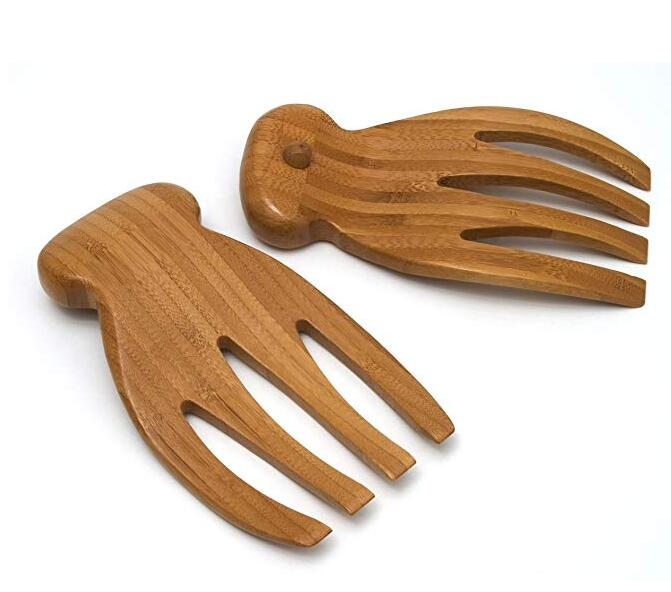 Natural Bamboo Salad Hands
