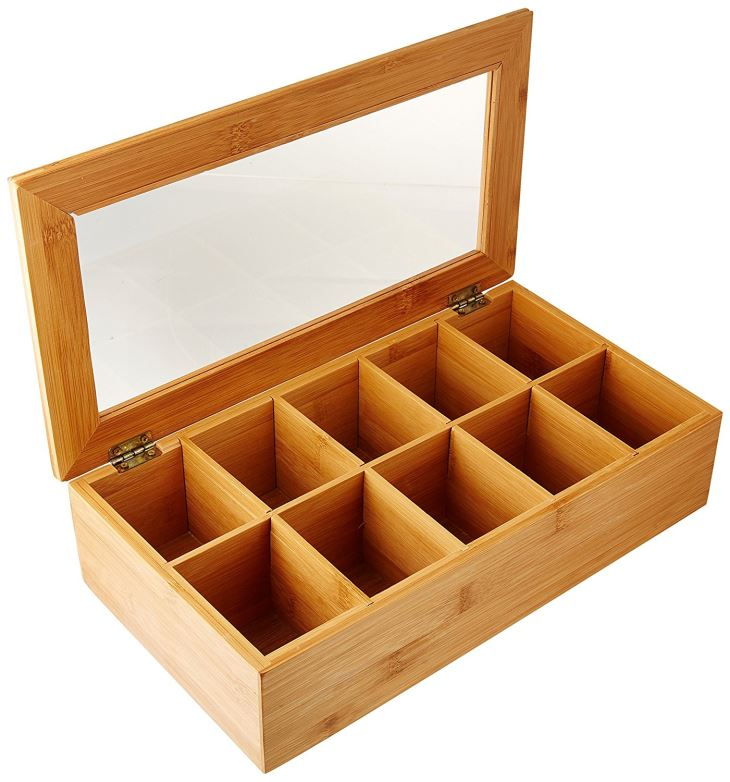 Tea Box With 10 Compartments