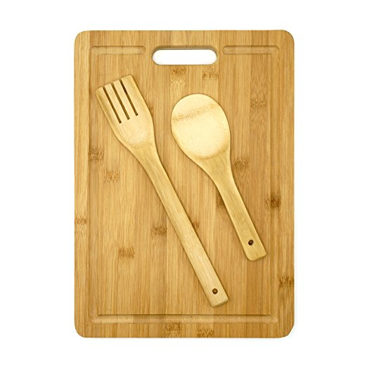 Chopping Board Set With Bamboo Spoon